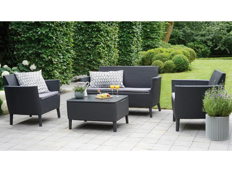 Gartenmöbel set lounge  Best Gartenmöbel-Set Lounge-Gruppe Linosa 4-tlg. inkl. Sitzauflagen ...