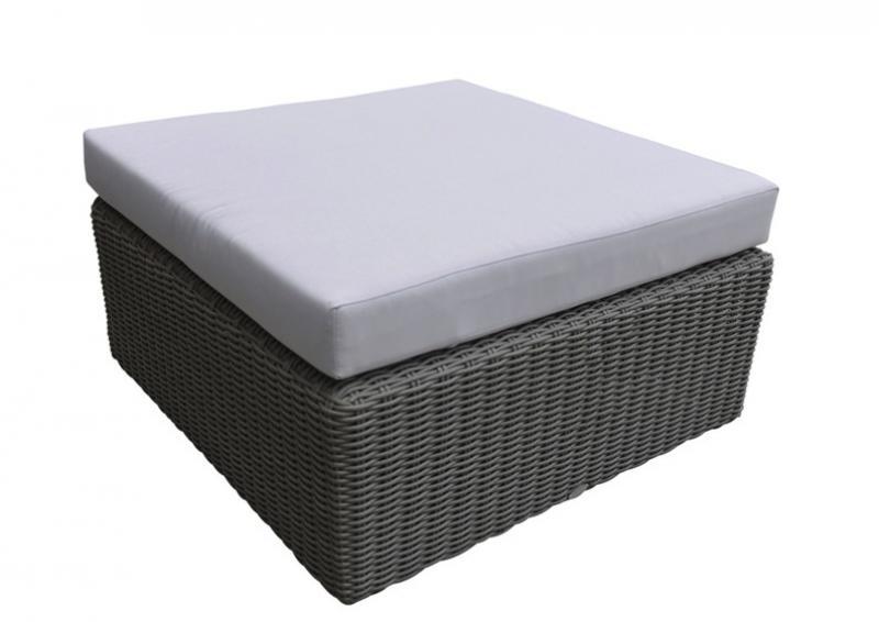 rattan loungeelement turino hocker tisch farbe dunkelgrau grau. Black Bedroom Furniture Sets. Home Design Ideas