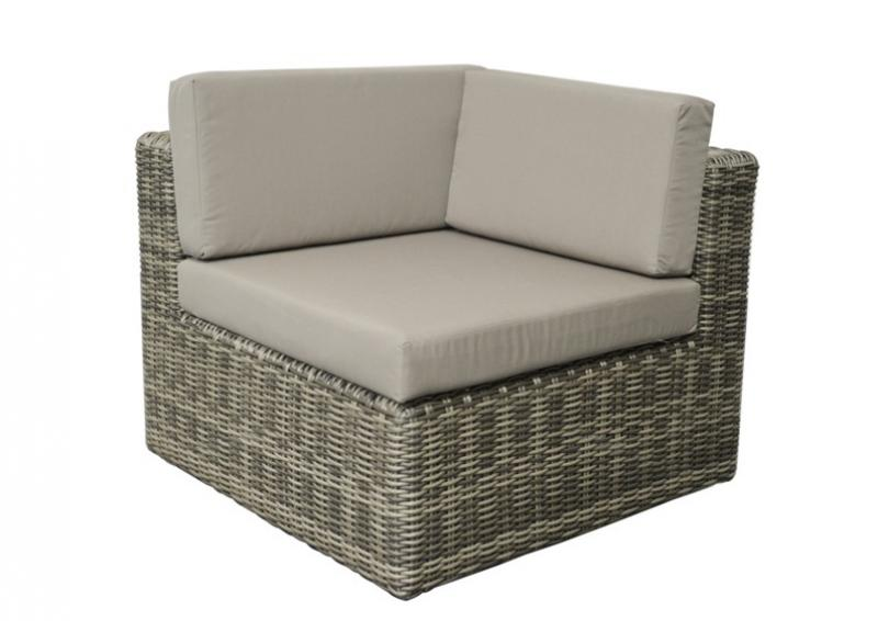 rattan loungegruppe m bel set 4 turino farbe grau braun meliert. Black Bedroom Furniture Sets. Home Design Ideas