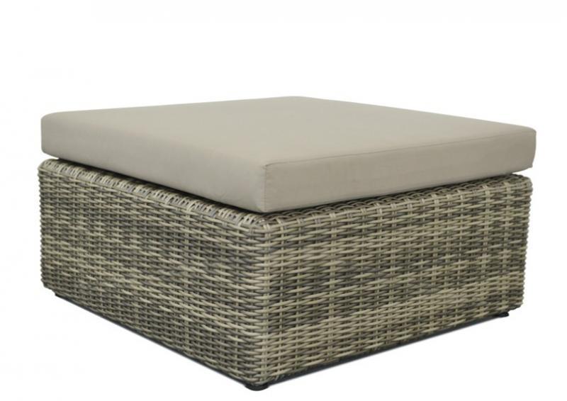 Rattan Loungegruppe Möbel Set 4 Turino - Farbe: grau braun meliert