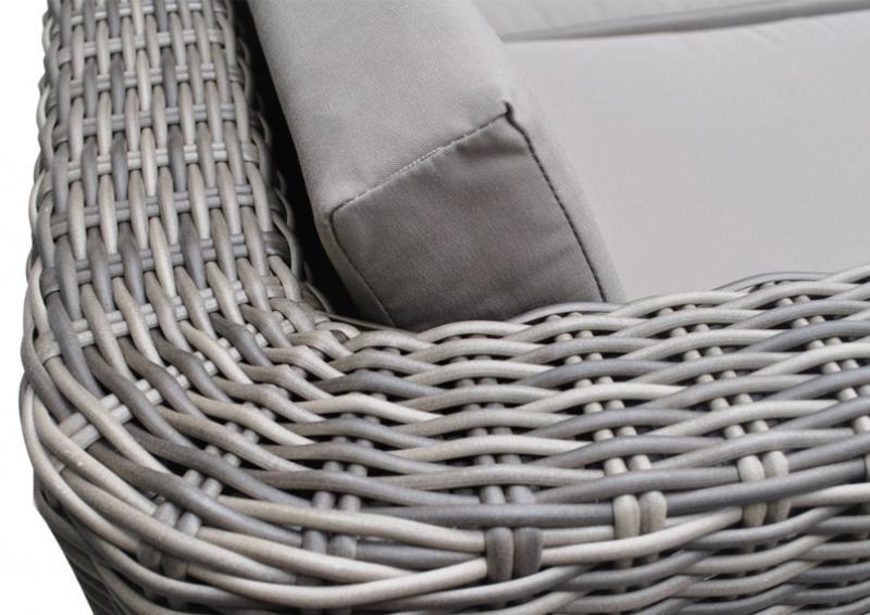 Rattan Loungemöbel Gartensofa Hannover 3-5 Sitzer - Farbe: grau-braun meliert