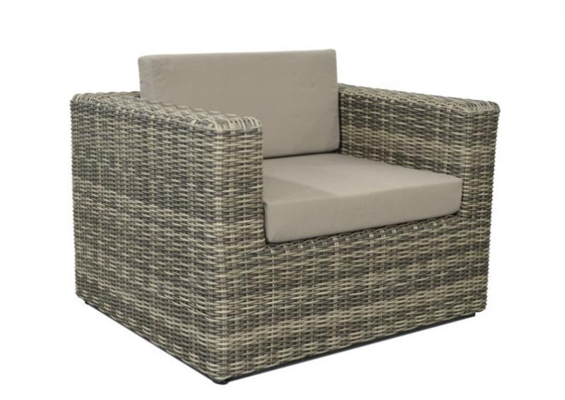 Lounge sessel rattan grau  Loungeelement Turino Sessel - Farbe: grau-braun meliert