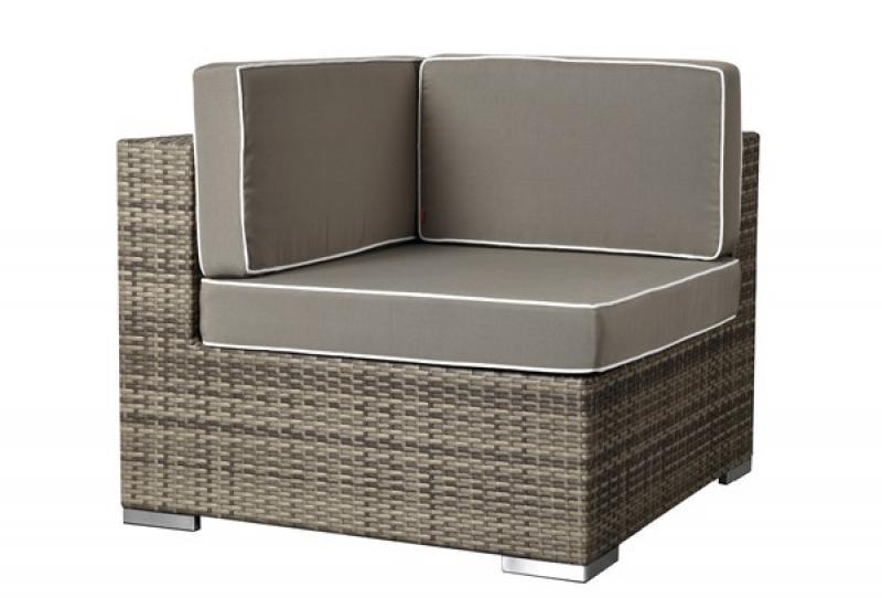 rattan xxl loungem bel set espace 0 7 teilig farbe grau braun meliert. Black Bedroom Furniture Sets. Home Design Ideas