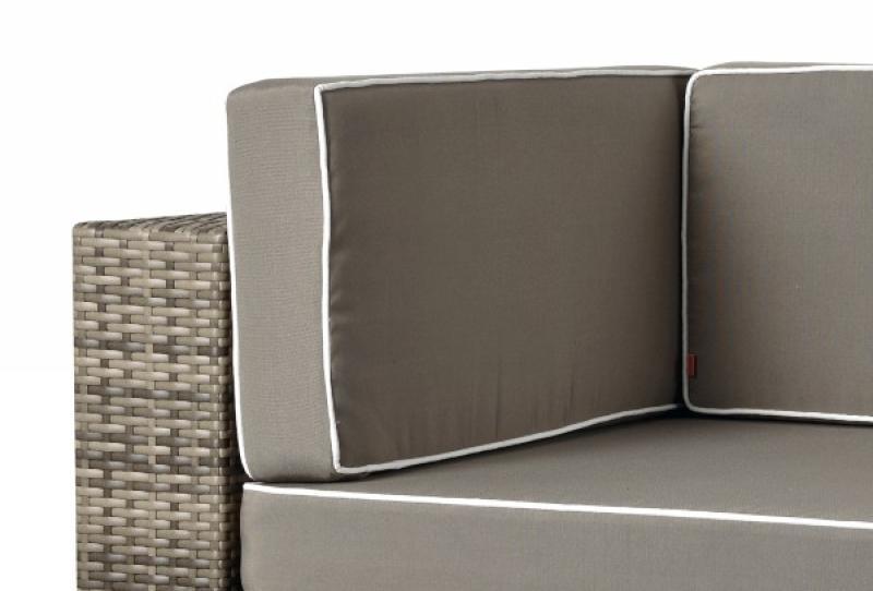 Rattan XXL Loungemöbel Set Espace 1 - 3-teilig - Farbe: grau braun meliert