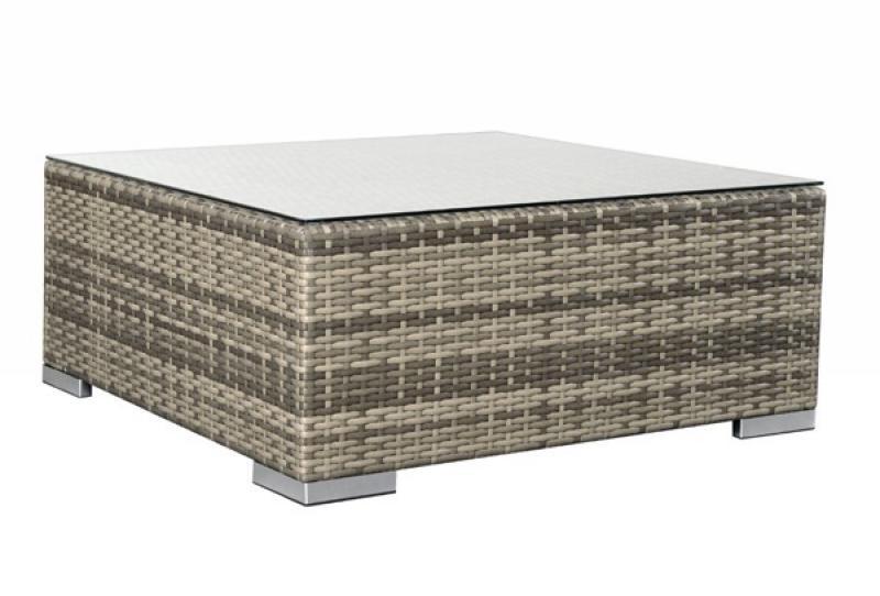 Rattan lounge grau  Rattan XXL Loungemöbel Espace Loungetisch - Farbe: grau braun meliert