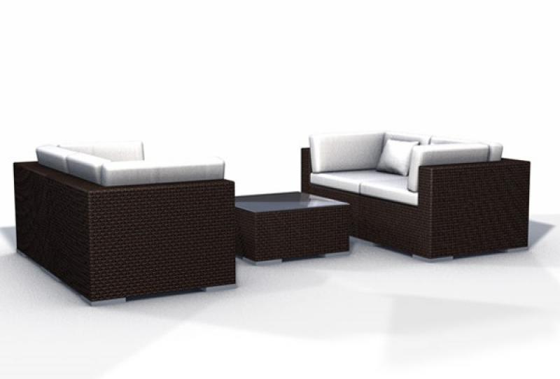 Rattan Lounge Espace Luxus Start 2 - 4 Sitze inkl. Kissen - Farbe ...