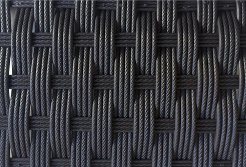Rattan Gartentisch Linea/Malaga Esstisch 180 cm - Farbe: Dunkelbraun