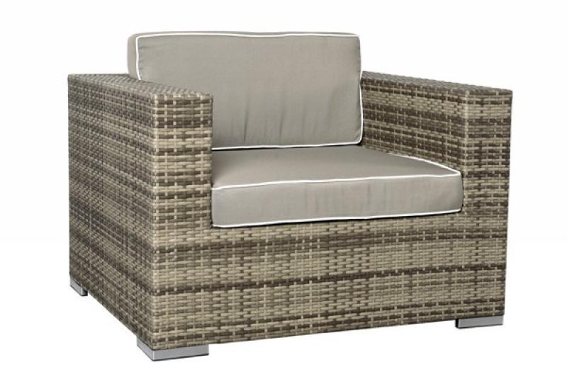 Rattan set  XXL Loungemöbel Set Espace 3 - 5-teilig - Farbe: grau braun meliert
