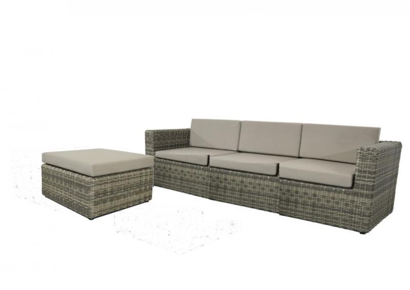Rattan Loungegruppe Möbel Set 1 Turino - Farbe: grau-braun meliert