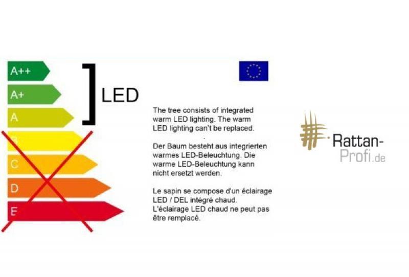 LED-Lichterbaum-Kegel Weihnachtsbaum für innen - Größe: L - 42 cm hoch - 85 LED-Lampen: warmweiß