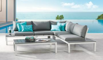 Best Lounge Gruppe Santorin 4 Tlg.   277x277 Cm   Aluminium/Sensotex