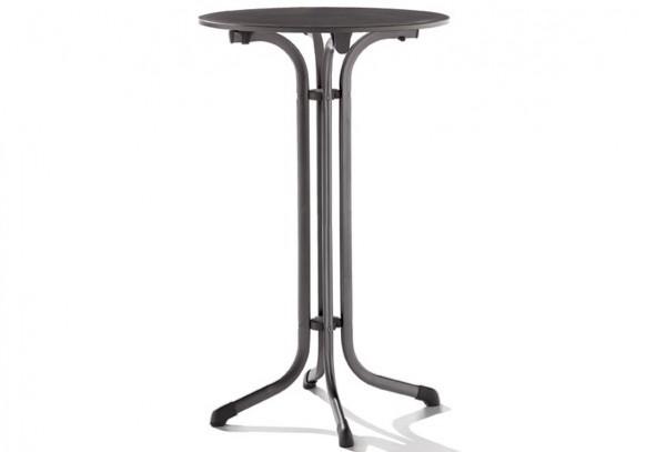 Sieger 1325-55 Gastro-Tisch mit Puroplan-Platte ø 68 cm, Stahlrohrgestell eisengrau, Tischplatte