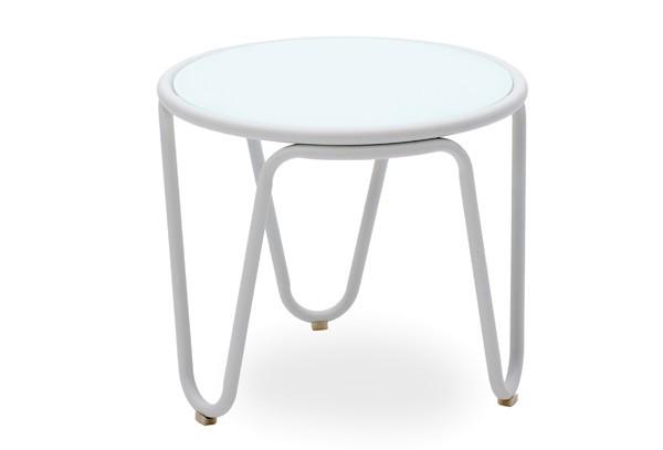 Landmann Belardo Tisch Aporia - rund Ø 54 x 42cm, Farbe weiß
