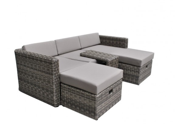 rattan loungem bel hannover 3 5 sitzer farbe grau braun. Black Bedroom Furniture Sets. Home Design Ideas