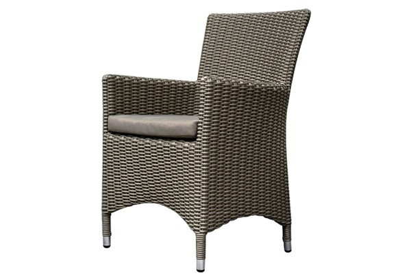 rattan sessel linea stuhl 2er set farbe grau. Black Bedroom Furniture Sets. Home Design Ideas