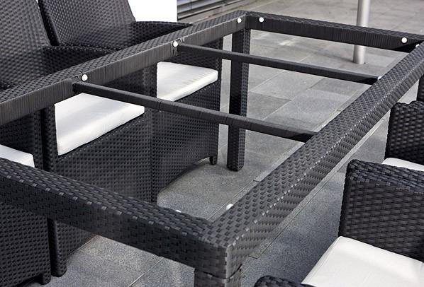rattan gartentisch linea malaga esstisch 180 cm farbe dunkelbraun. Black Bedroom Furniture Sets. Home Design Ideas