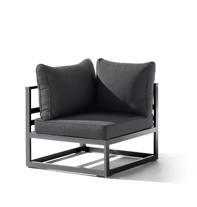 sieger aluminium lounge gruppe serie melbourne graphit grau eckteil. Black Bedroom Furniture Sets. Home Design Ideas