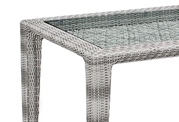 landmann rattan tisch fiorana tisch mit glasplatte farbe silk white. Black Bedroom Furniture Sets. Home Design Ideas