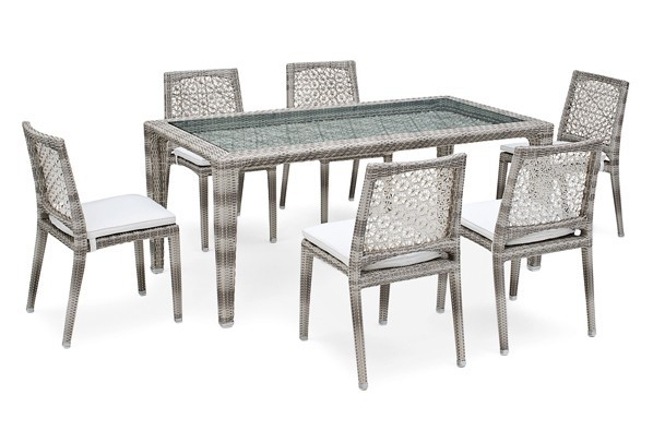 landmann rattan essgruppe fiorana 2 6 sessel farbe. Black Bedroom Furniture Sets. Home Design Ideas