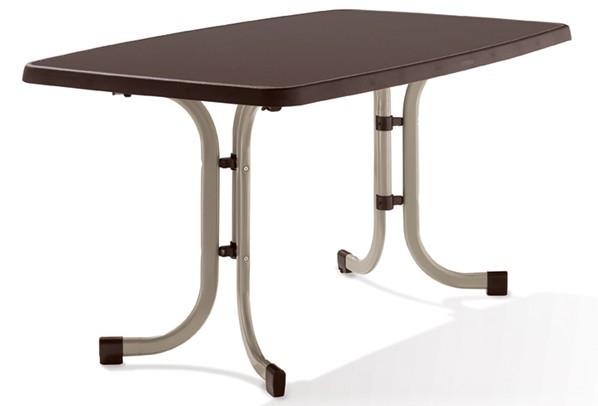 sieger boulevard klapptisch melamin 150x90cm farbe champagner schiefer mocca. Black Bedroom Furniture Sets. Home Design Ideas