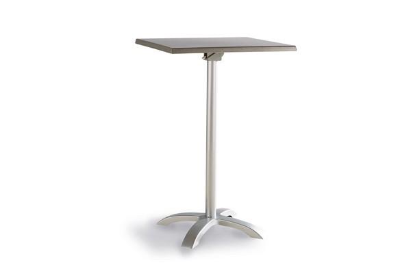 best stehtisch maestro 70x70cm eckig silber acantus. Black Bedroom Furniture Sets. Home Design Ideas