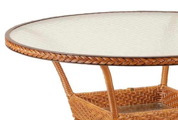 best alu korbtisch madelene rund 110cm caramel. Black Bedroom Furniture Sets. Home Design Ideas