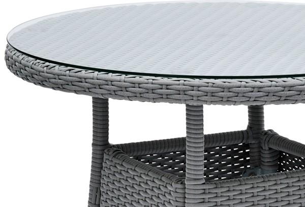 landmann belardo bistro set astena 2 st hle inkl tisch farbe grau. Black Bedroom Furniture Sets. Home Design Ideas