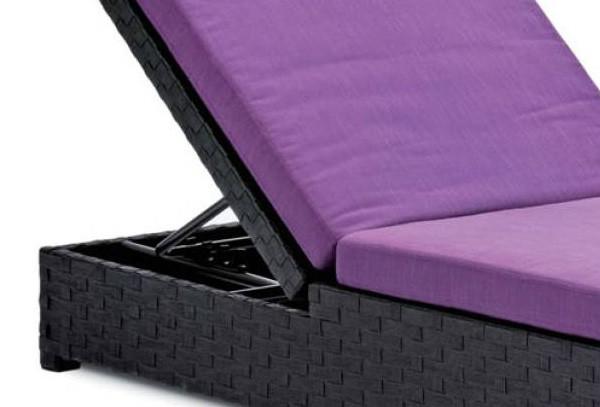 landmann belardo rattan sonnenliege diamina schwarz. Black Bedroom Furniture Sets. Home Design Ideas