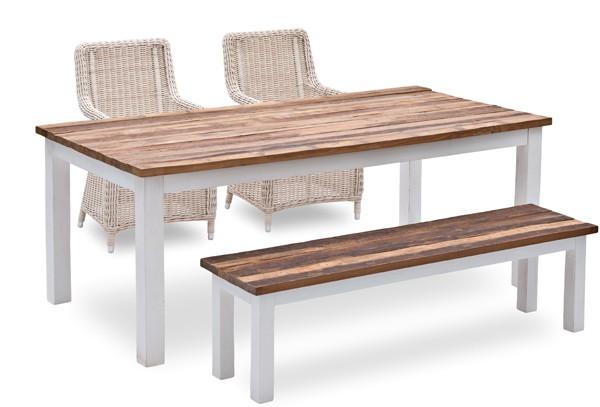 landmann belardo tisch theria recycled teakholz 180x90x78cm farbe wei teak. Black Bedroom Furniture Sets. Home Design Ideas