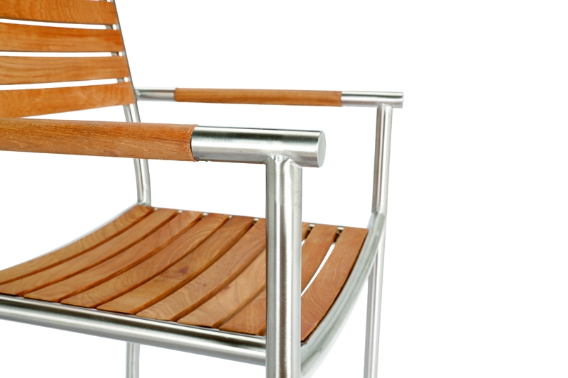 best stapelsessel murano edelstahl teak. Black Bedroom Furniture Sets. Home Design Ideas