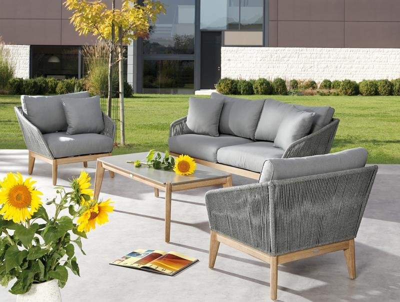 Gartenmöbel set lounge  Gartenmöbel-Set Lounge-Gruppe Samos 4-tlg. inkl. Auflagen und 2 ...