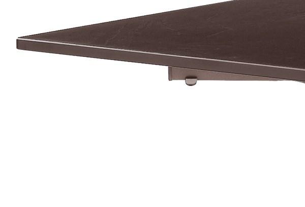 sieger boulevard klapptisch puroplan schiefer mocca 140x90cm gestell marone. Black Bedroom Furniture Sets. Home Design Ideas