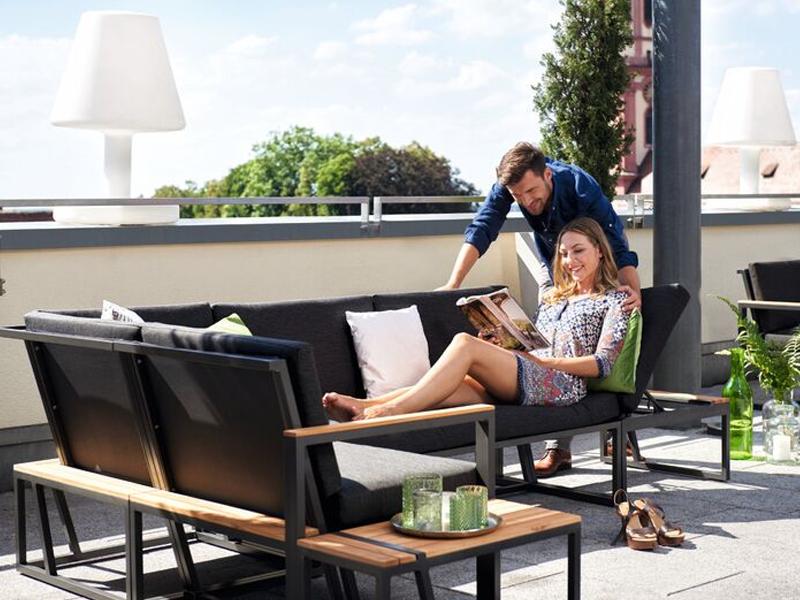 sieger gartenm bel havanna eisengrau grau eckteil loungem bel. Black Bedroom Furniture Sets. Home Design Ideas