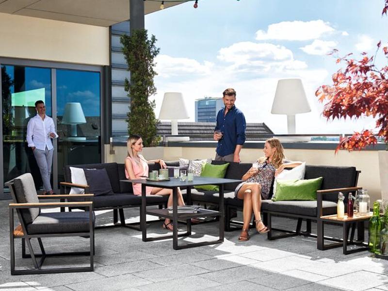 Sieger Gartenmöbel Havanna Diningtisch Maße 105x105x69 cm - Loungemöbel