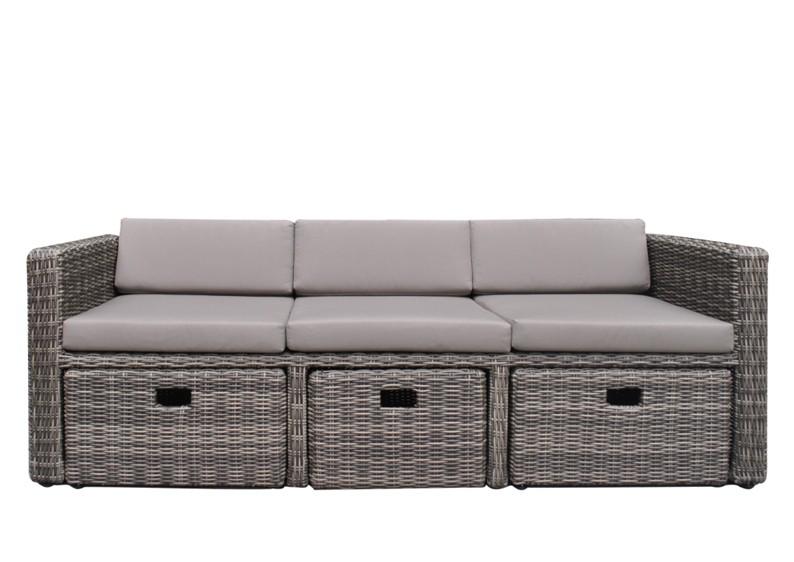 rattan loungem bel gartensofa hannover 3 5 sitzer farbe grau braun meliert. Black Bedroom Furniture Sets. Home Design Ideas
