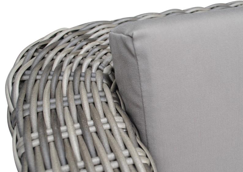Rattan loungeelement turino ecksofa farbe grau braun for Loungemobel sonneninsel