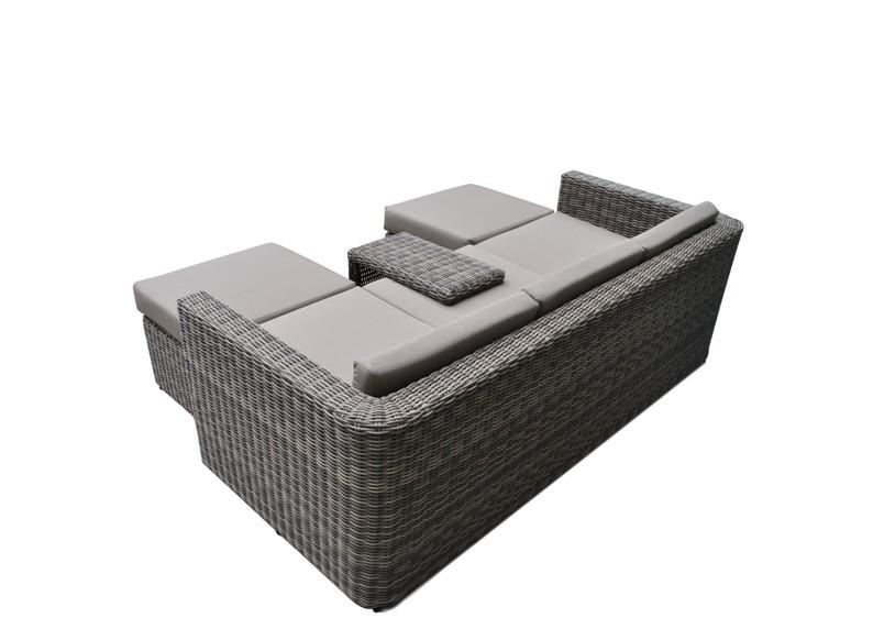 Loungemöbel Outdoor Günstig Grau ~  Gartensofa Hannover 35 Sitzer  Farbe graubraun meliert