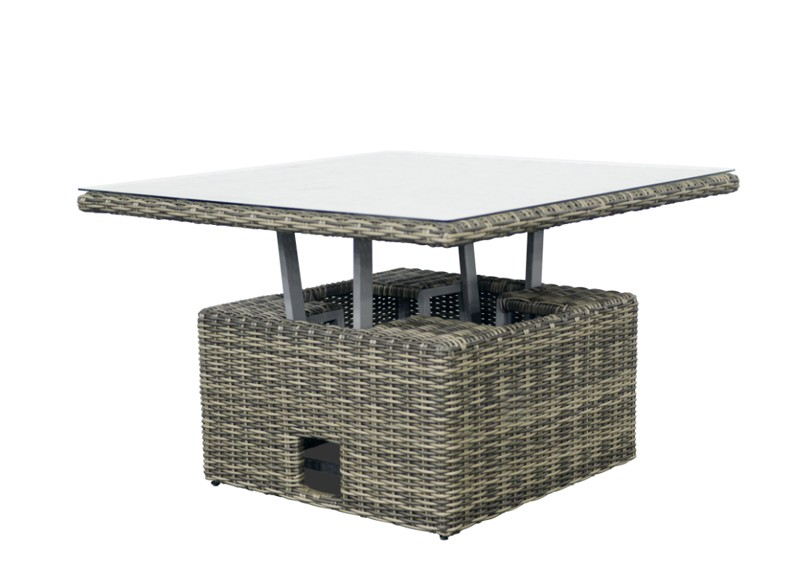 rattan loungegruppe m bel set 3 turino farbe grau braun meliert. Black Bedroom Furniture Sets. Home Design Ideas