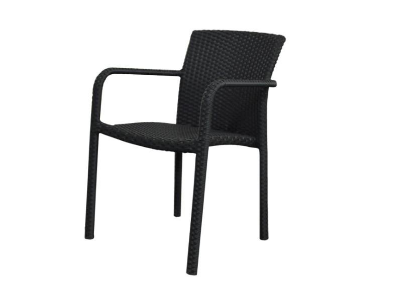 rattan stapelsessel gartenstuhl malaga farbe schwarz. Black Bedroom Furniture Sets. Home Design Ideas