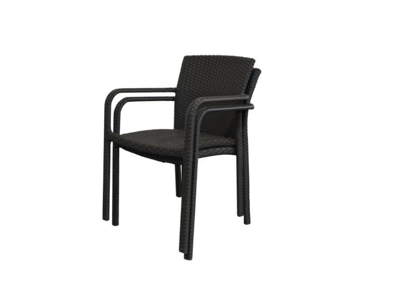 rattan stapelsessel gartenstuhl malaga farbe dunkelbraun. Black Bedroom Furniture Sets. Home Design Ideas