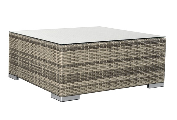 rattan xxl loungem bel set espace 1 3 teilig farbe grau braun meliert. Black Bedroom Furniture Sets. Home Design Ideas