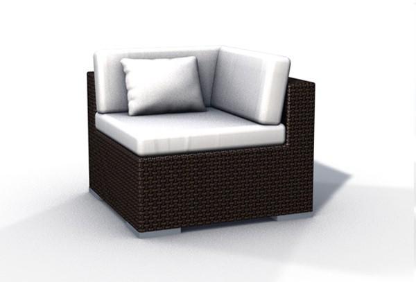 rattan lounge espace luxus start 1 2 sitze inkl kissen. Black Bedroom Furniture Sets. Home Design Ideas