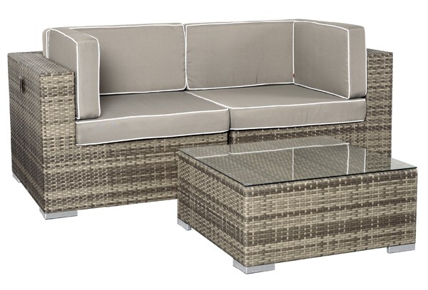 rattan xxl loungem bel set espace 1 3 teilig farbe. Black Bedroom Furniture Sets. Home Design Ideas