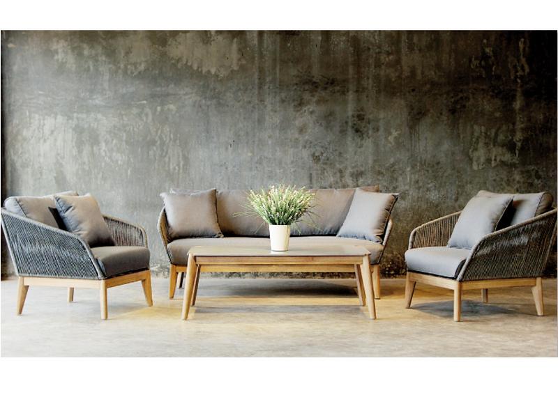 Gartenmöbel-Set Lounge-Gruppe Samos 4-tlg. inkl. Auflagen und 2 ...