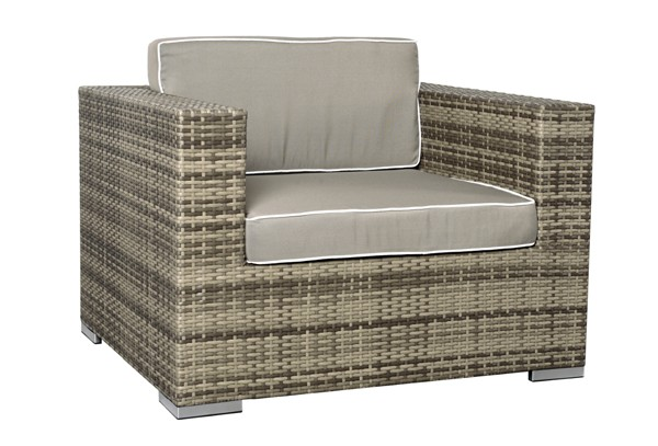 rattan xxl loungem bel espace sessel farbe grau braun meliert. Black Bedroom Furniture Sets. Home Design Ideas