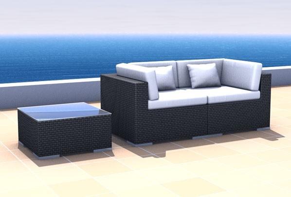 Rattan Lounge Espace Start 1a - 2 Sitze inkl. Kissen