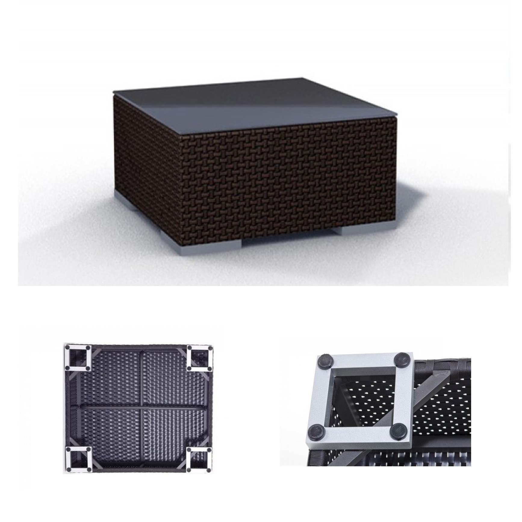 gartenm bel luxus lounge aus polyrattan braun espace. Black Bedroom Furniture Sets. Home Design Ideas