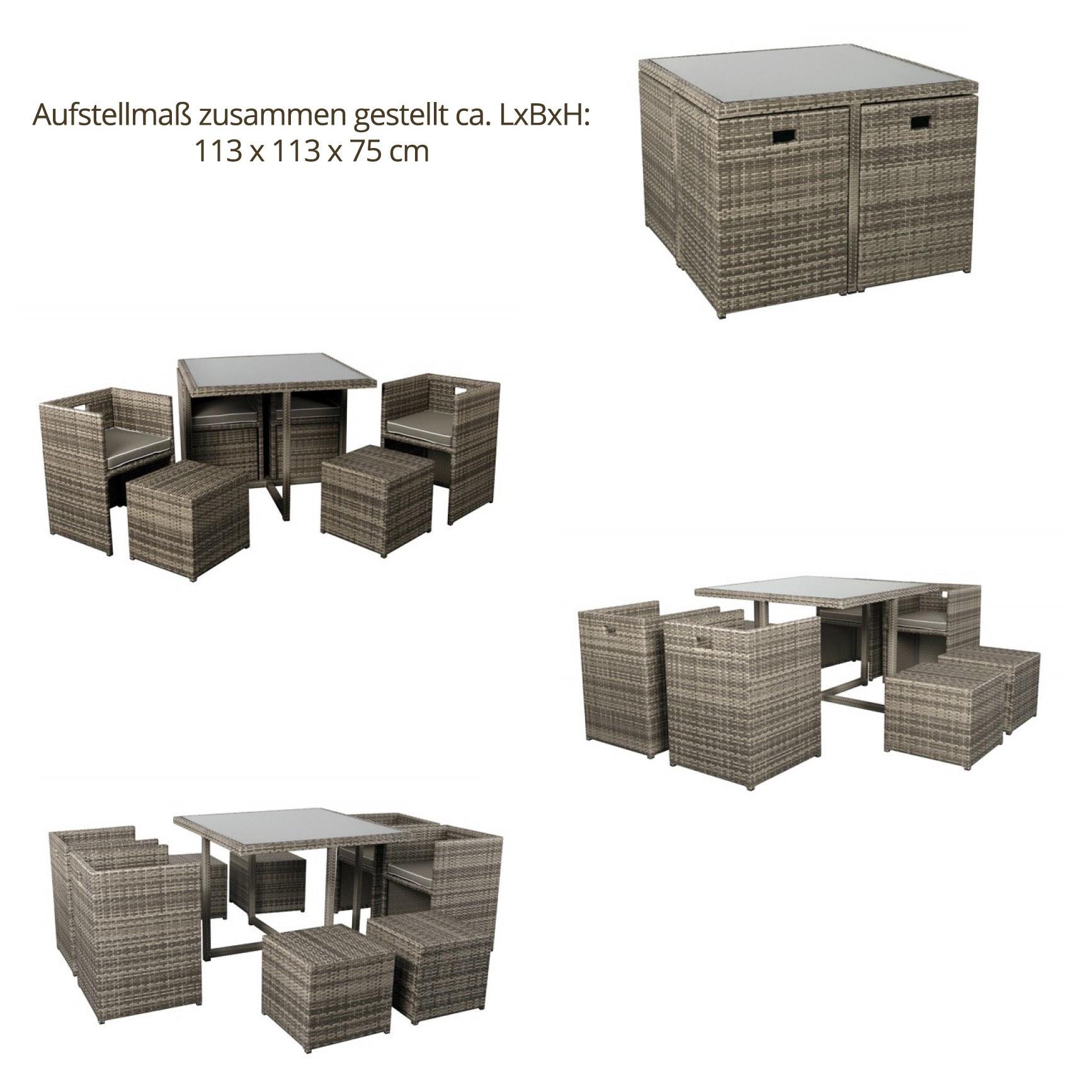 Weitere Lounge und Gartenmöbel aus unserer Garden Select Kollektion => Balkonmobel Set Cube