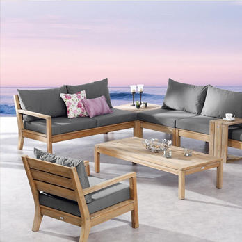gartenlounge outdoorm bel aus teakholz direkt vom fachh ndler. Black Bedroom Furniture Sets. Home Design Ideas